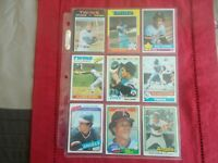 ROD CAREW-(25) CARD LOT  (1971-1986)TOPPS/FLEER/DONRUSS G-NM CONDITION