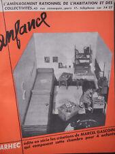 PUBLICITÉ DE PRESSE 1951 ARHEC ENFANCE CRÉATIONS DE MARCEL GASCOIN - ADVERTISING