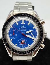 Omega Speedmaster Ref 3510.80 Reduced Chronograph Blue Dial Automatic Mens Watch