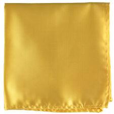 New Men's polyester Pocket Square Hankie Handkerchief Gold Yellow wedding formal