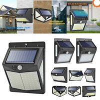 208 LED PIR Motion Sensor Wall Light Solar Power Waterproof Outdoor Garden Lamp