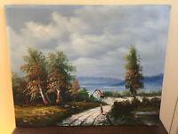 tableau ancien huile sur toile à définir (XXe-s) paysage