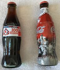 Boston Red Sox Lot 2 Bottle 2004 WS Championship & 100 Seasons Coca Cola Limited