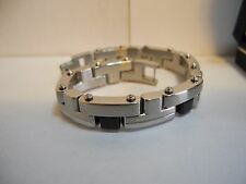 COLIBRI STAINLESS STEEL & TITANIUM NOIR HEAVY DUTY BRACELET CLEARANCE AS-IS