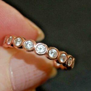 Pandora.  Rose Gold Clad Full CZ Eternity Ring.  Large (19mm)