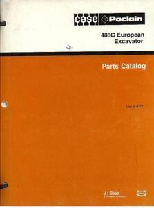 Case Crawler Excavator 488C European Parts Manual - 488 C