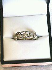 9ct white gold wedding ring/dress ring