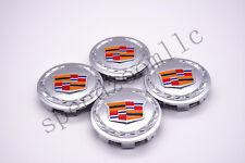 4PCS 83mm Chrome Color Center Caps Cadillac Escalade 2007-2013 ESV EXT 9595891