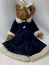 Bearington Bear Blue Velvet Coat Christmas Collection