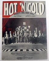 "SHEET MUSIC "" HOT N COLD "" COPYRIGHT 1922"