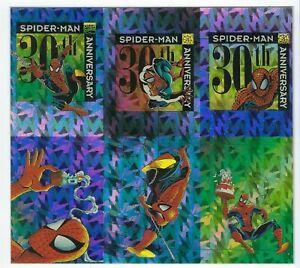 1992 Spider man II Trading Cards Uncut 6 card case topper PRISM Sheet.