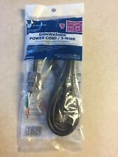 GE Universal 3-wire dishwasher power cord 5.4ft NEW WX09X70910 NEW SEALED USA