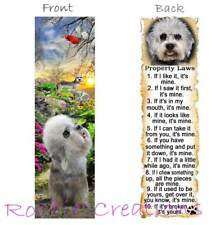 Dandie Dinmont Terrier Dog Rules Card Bookmark-Nice Gift-Property Laws Puppies