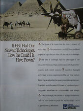 4/1991 PUB HAMILTON STANDARD LINDBERGH SPIRIT OF ST LOUIS PYRAMIDE EGYPTE AD