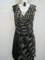 Warehouse Cowl Neck Chiffon Belted Tunic Knee Length Dress Size 12