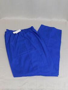 Bobbie Brooks Plus Size Elastic-Waist Uniform Scrub Pants - 1X, Blue #3825