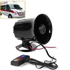 3 Tone Sound Car Police Siren Horn Megaphone Loud Speaker System 30W 12V New