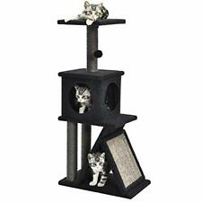"Kilodor 41.3"" Cat Tree Condos with Lage Scratching Pad Kitten Playhouse Activ."