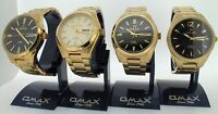 Omax swiss watch gents automatic gold plated see through back 4 styles UK SELLER
