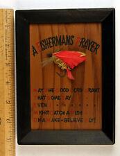 A Fisherman's Prayer, wood framed, Vintage, old, novelty