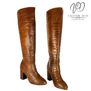 Next Women's Boots Brown Mock Croc Boots Size 6 Uk / 39 Eu