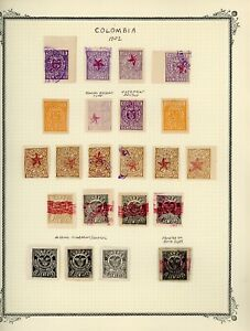 COLOMBIA Scott Specialty Album Page Lot #20 - SEE SCAN - $$$