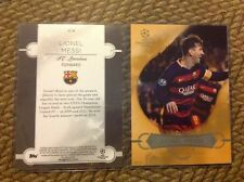 Lionel Messi Best of the Best #ed/10 made 2016 Topps UEFA Champions 5X7 GOLD