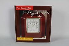 Halston Z-14 Wooden Desk Clock
