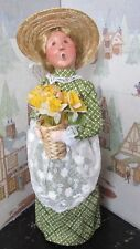 BYERS CHOICE Spring Open House Woman with Daffodil Flowers 2013 Signed Joyce *