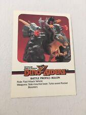 Dino Riders Trading Card