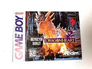 Dragon Heart Authentic Original Nintendo Gameboy Instruction Manual Booklet Book