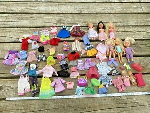 Lot of Mattel Barbie and Kid Kore Small Dolls + Clothes