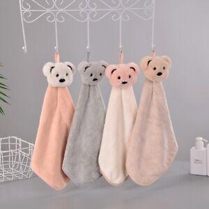 Super Soft Absorbent Microfiber Hand Towel Hanging Bathroom Kitchen Towel