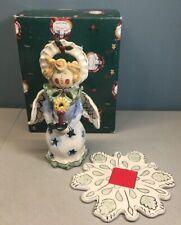 Heather Goldminc Caroling Angel Tea Light Candle Holder 2002 Blue Sky Christmas