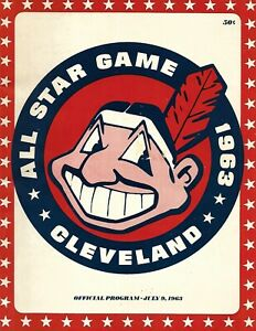 1963 All Star Game Program at Cleveland Willie Mays Paces NL Attack NICE!!