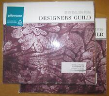 DESIGNERS GUILD Housewife Pillowcase Pair CAPRIFOGLIO DAMSON New