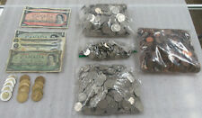 Huge Canada Estate Lot of $193.85 Face Value in Coins & Currency