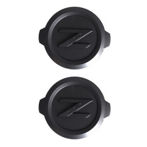 2X Black Z Logo Front Hood Badge Emblem Sticker for 18-20 350Z 370Z Z34 Fairlady