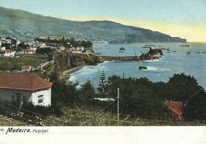 MADEIRA Vintage Colour Postcard Funchal Bay Posted 1905 with stamp