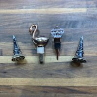 Set of 4 Wine Bottle Stoppers Different Decorative Bottle Toppers