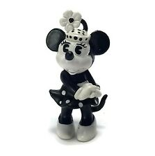Walt Disney 2 Inch Bully Minnie Mouse Black & White PVC Figurine 1984 W. Germany