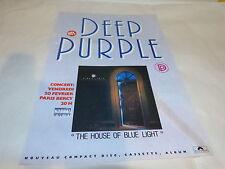DEEP PURPLE - Publicité de magazine / Advert THE HOUSE OF BLUE LIGHT !!!!!!!