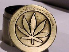 4 Piece Dry Herbal Gold Leaf Metal Chromium Crusher Tobacco Spice Herb Grinder