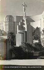 1939 RPPC; Evening Star Court of Honor, Golden Gate Int'l Expo San Francisco CA