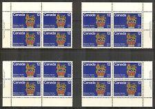 Canada #735, 1977 12c Canadian Governors General, 4-Corner PB4 Set Unused NH