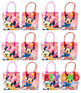 Disney Minnie Mouse Goody Bags Birthday Party Favor Goodie Gift Candy Loot Bags