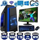 Super Fast Gaming Computer Bundle Intel Core I5 2400 16gb 1tb Windows 10 Gt710