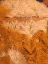 Faux Long Fur Scraps Blonde & Gold 22 Pieces Craft Projects