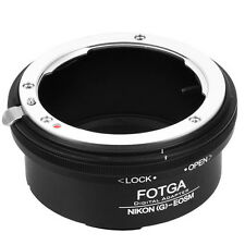 Fotga Nikon G AFS to Canon EOS M M2 M3 Adapter Ring For EF-M Mirrorless Camera