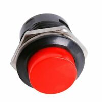 10 momentary push button switch OFF-(ON) 16mm red J6F4